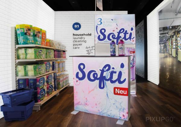 PIXLIP GO   Counter 100 cm x 100 cm indoor   beidseitig