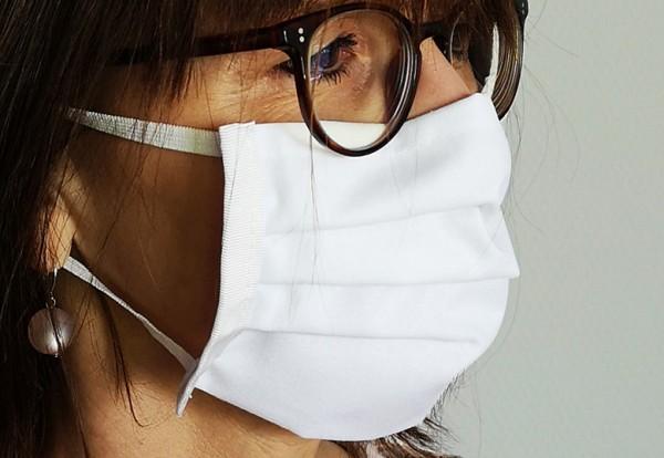 Mundmaske | mit Gummiband weiß | unbedruckt