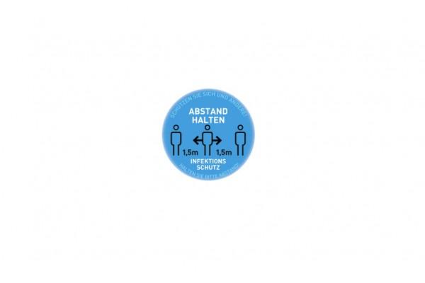 Aufkleber Abstand | Standard blau | rund 29 cm