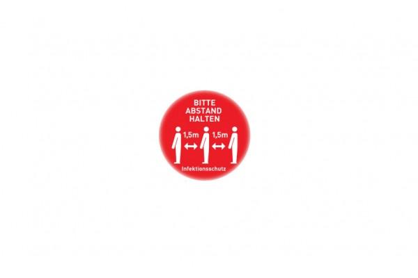 Aufkleber Abstand | Standard rot | rund 29 cm